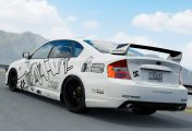 XBR Showroom Forza Motorsport 7 : Subaru Legacy B4 Stance Black & White