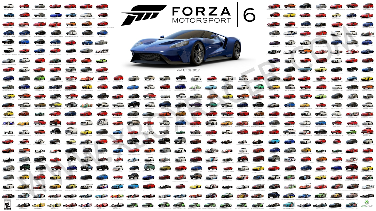 liste des voitures de forza motorsport 6. Black Bedroom Furniture Sets. Home Design Ideas
