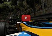 F1 2017 : Du gameplay et un replay sur Monaco de nuit en Renault R26