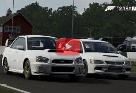 Forza Motorsport 7: Mitsubishi Lancer ou Subaru Impreza WRX STI?