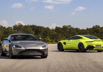 Aston Martin V8 Vantage de 2018 en version route et GTE