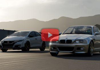 Forza 7: BMW M3 (E46) face à Honda Civic Type R (FK2)